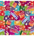 School pattern background vector image vector image