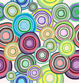 seamless pattern of colored circles vector image