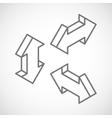 set isometric arrows vector image