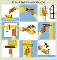 Set of home remodeling Repair their own hands vector image vector image