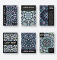 set of six posters with abstract pattern vector image