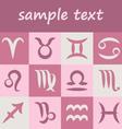 set zodiac simple symbols vector image vector image