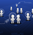 social network online with indicator vector image vector image