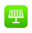 solar energy panel icon digital green vector image