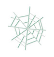 spider web icon on white background flat icon vector image vector image