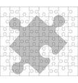 stencil of puzzle pieces second variant vector image vector image