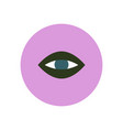 stylish icon in color circle eye problems vector image vector image
