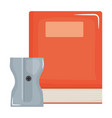 text book school with sharpener vector image vector image