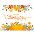 thanksgiving day hand drawn happy vector image vector image