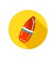Torpedo rescue lifeguard buoy flat icon vector image vector image