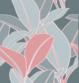 tropical plant seamless pattern2 vector image vector image
