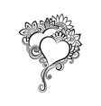 Two hand-drawn hearts vector image