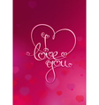 Valentines Card I Love You Rubie vector image vector image
