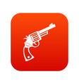 vintage revolver icon digital red vector image vector image