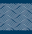 water waves seamless pattern curve lines abstract vector image vector image