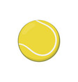 icon of yellow tennis ball in cartoon style vector image