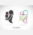 icon of a mom and baby on white background vector image