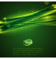 abstract green background with shiny sparkles vector image vector image