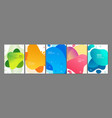 abstract shapes cards advertising banners vector image vector image