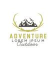 adventure badges logo design vector image vector image