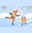 animals on skates concept vector image vector image