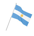 argentina national flag vector image
