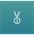 award medal icon with ribbon eps10 vector image vector image