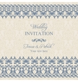 Baroque wedding invitation dark blue vector image vector image