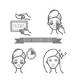 beauty treatment icons application of patches vector image vector image