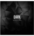black polygonal pattern dark background ima vector image vector image