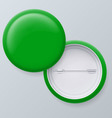 Blank green badges vector image vector image