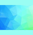 blue green geometric background with triangles vector image vector image