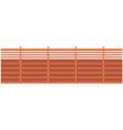 brick colored forged fence element landscape vector image