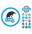 Care Umbrella Flat Icon with Bonus vector image