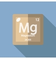 Chemical element Magnesium Flat vector image vector image