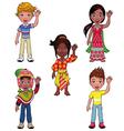 children in world vector image
