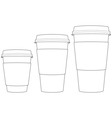 Coffee Paper Cups vector image vector image