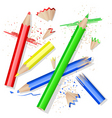 colors pencils vector image vector image
