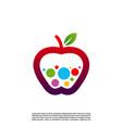 concept design apple logo colorful apple logo vector image