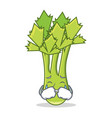crying celery mascot cartoon style vector image vector image