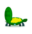 cute turtle with coin turtle safe icon vector image