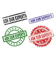 damaged textured ask our experts stamp seals vector image vector image
