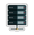 data center disk isolated icon vector image vector image