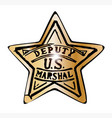 deputy us marshal star vector image vector image