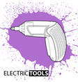 drill on a bright background vector image vector image
