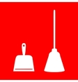Dustpan sign vector image vector image