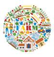 farm farming house gardening backdrop vector image vector image