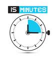 Fifteen Minutes Stop Watch - Clock vector image vector image