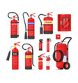 fire extinguisher firefighter equipment isolated vector image