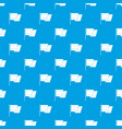 flag of spain pattern seamless blue vector image vector image